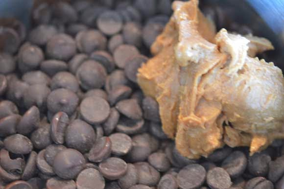 chocolade pindakaas kokosbar