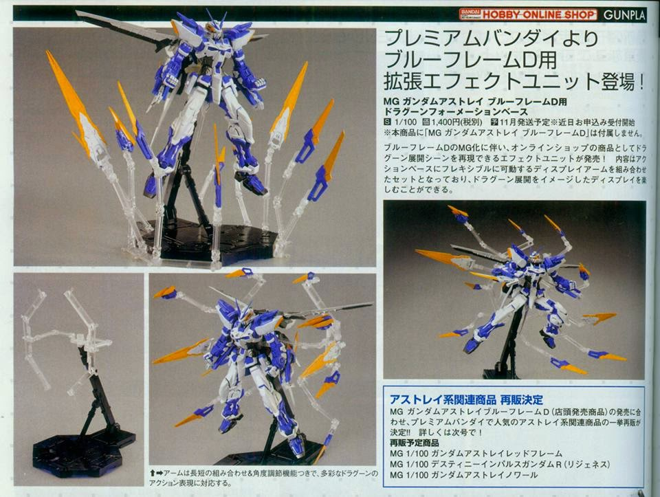 P-Bandai: MG 1/100 Astray Blue Frame D DRAGOON formation base - RE-ISSUE 2017