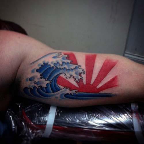uzak doğu güneş dövmesi japanese sun tattoo