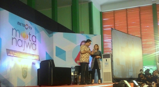 Meet and greet Mata Najwa di PKM UIR