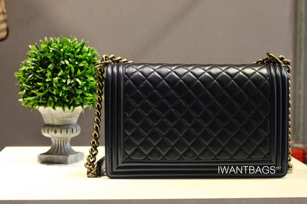 Chanel Quilted Boy Bag in Black 1336ad2d48fd5