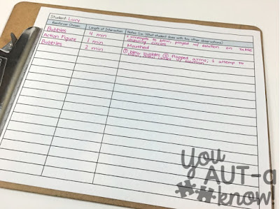 Collecting reinforcement data in an autism classroom is going to help your behavior management all year! Keeping an idea of what students are interested in will provide a stock of reinforcers to use in the classroom.