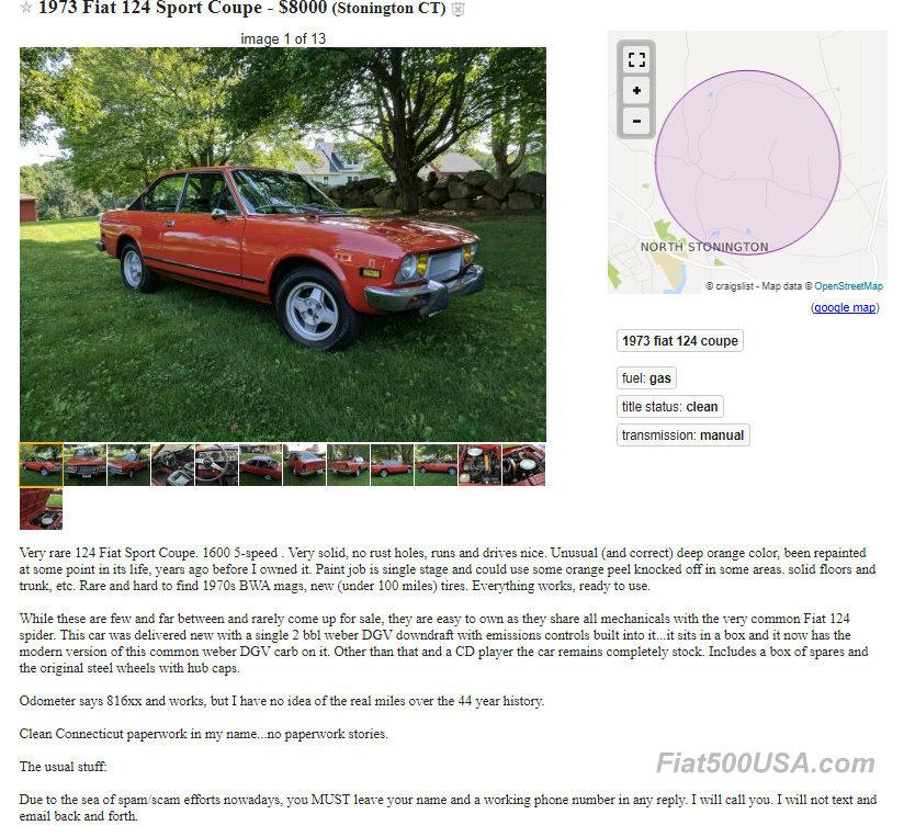 Fiat 500 craigslist