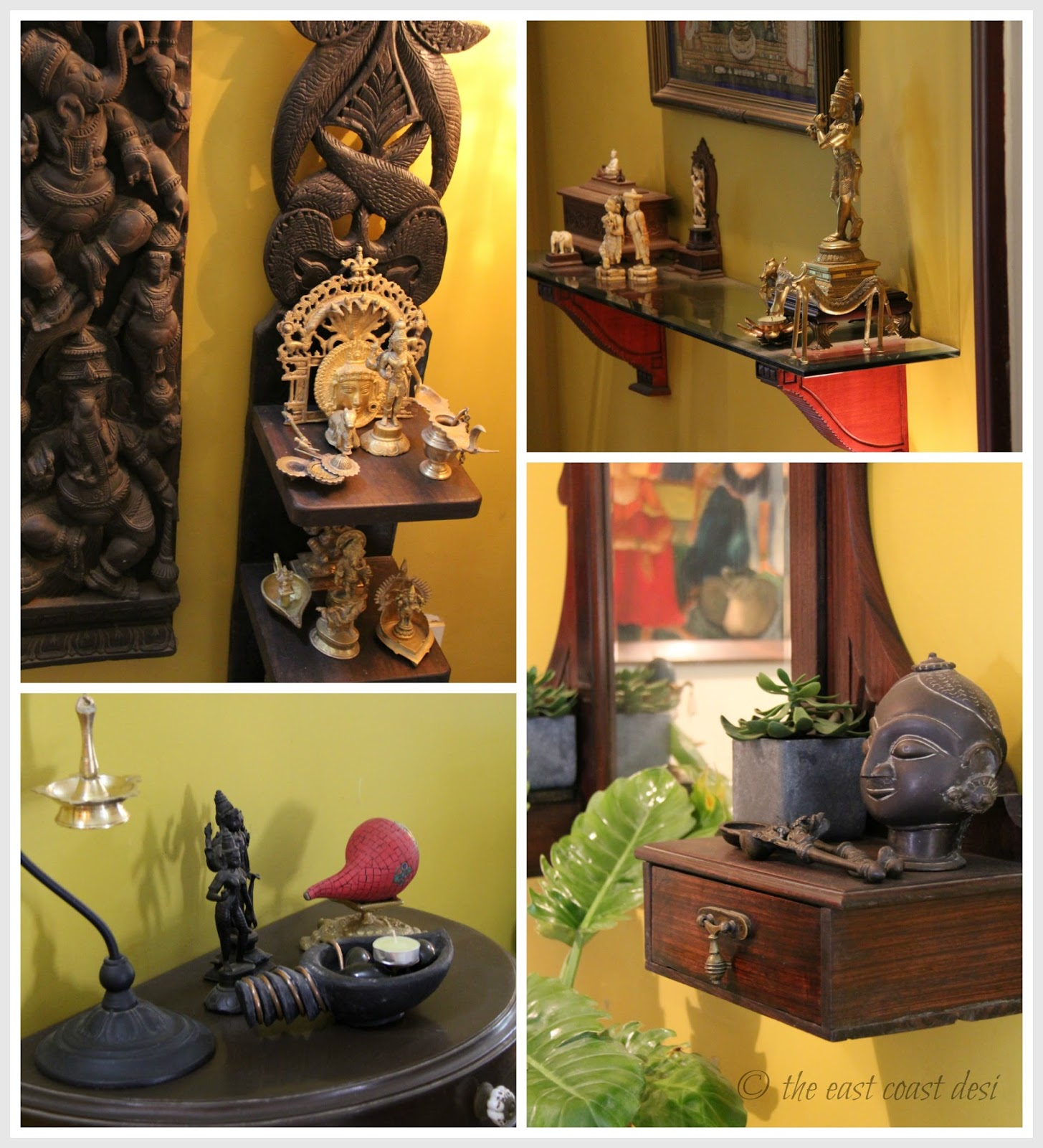 Hindi Home Decor Ideas: The East Coast Desi: Living With What You Love (Home Tour