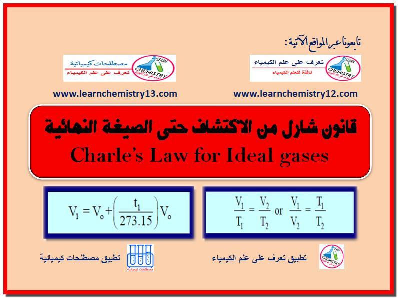 قانون شارل للغازات من الاكتشاف حتى الصيغة النهائية Charles