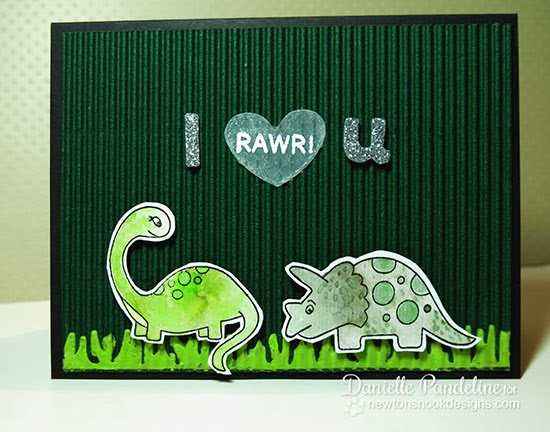 Dino card by Danielle Panedline for Newton's Nook Designs Inky Paws Challenge 7