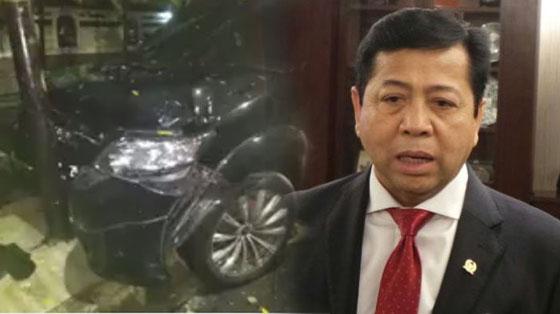 Heboh! Netizen Temukan Banyak Kejanggalan Pada Drama Kecelakaan Mobil Setya Novanto