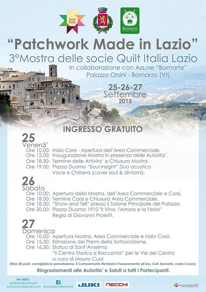 Quilt Italia Lazio.Quilt Italia Campania Patchwork Made In Lazio 2015