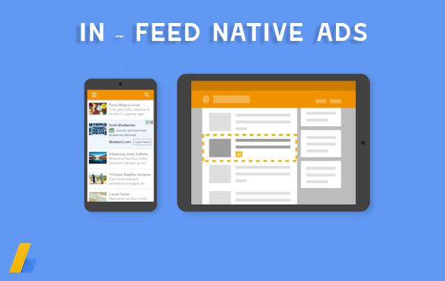 cara pasang iklan in-feed google adsense