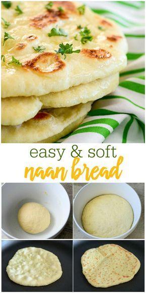 HOMEMADE NAAN BREAD #Homemade #Naan #Bread #Delecious #Bestbread #Easyrecipe #Easybread #Easydinner #Healthybread