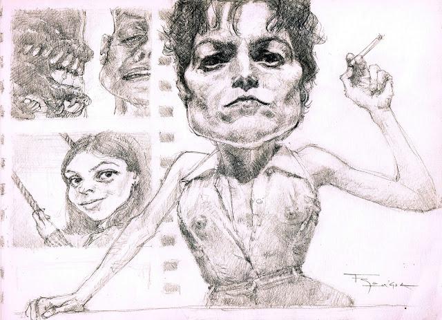 Sigourney Weaver Ripley caricature fede bengoa