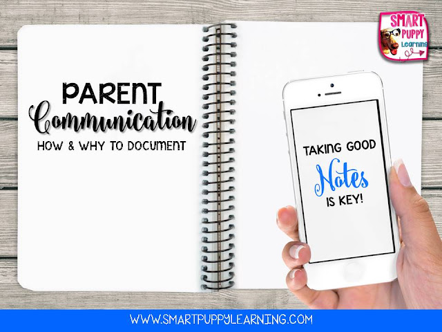 Ways to communicate with parents and document communication about students in the classroom