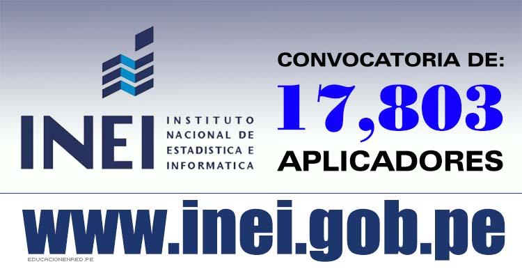 Inei convocatoria para aplicadores examen nacional for Convocatoria concurso docente 2016