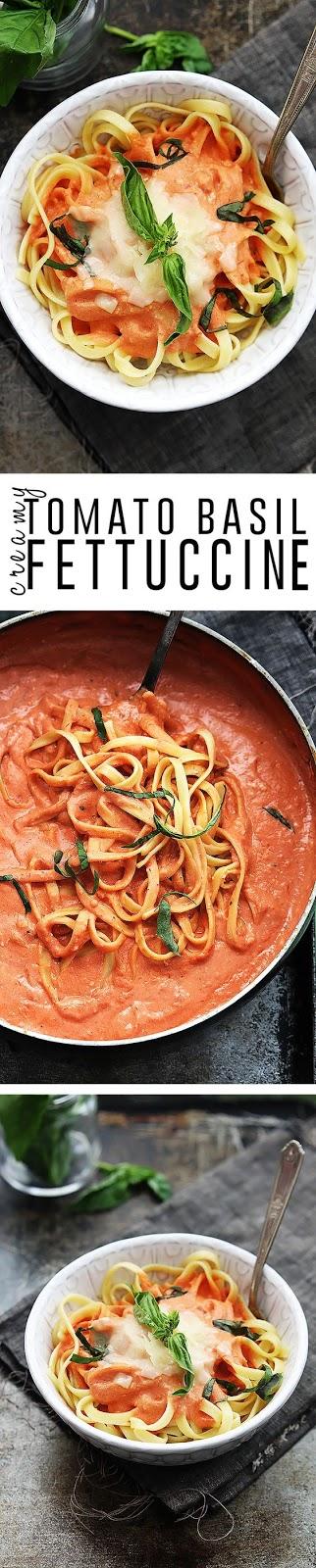 Creamy Tomato Basil Fettuccine
