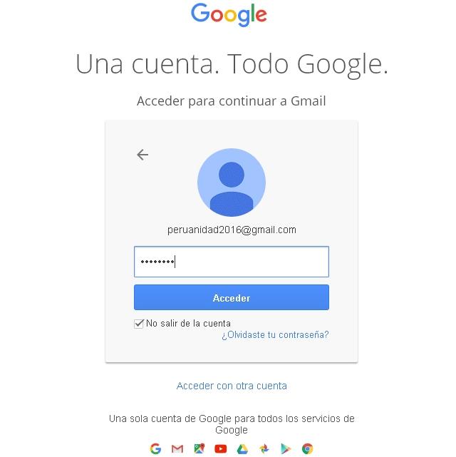 Como iniciar sesión en Gmail
