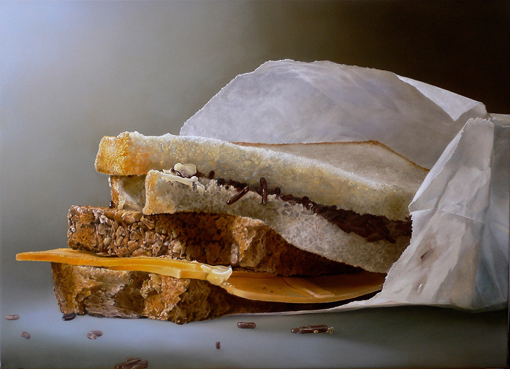 07-Slices-of-Bread-Tjalf-Sparnaay-The-Beauty-of-the-Everyday-Paintings-of-Food-Art-www-designstack-co