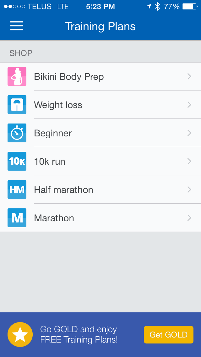 Image for Runtastic Training Plans