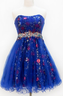 sweet 16 blue sequin dresses