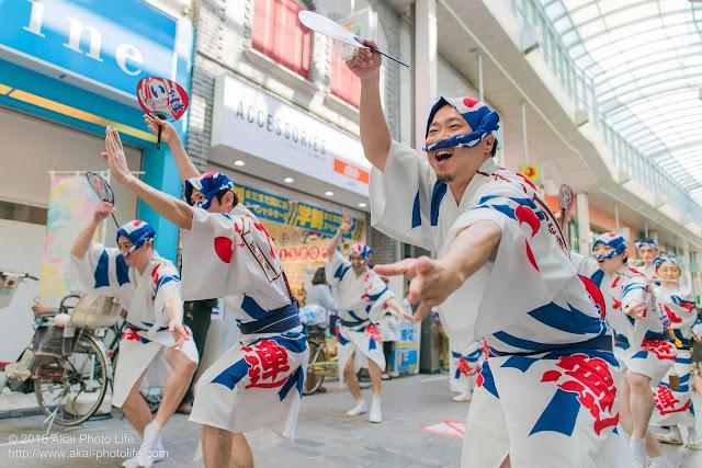 高円寺パル商店街、いろは連の流し踊りの写真 3