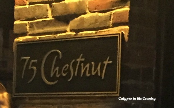 75 Chestnut - a fabulous restaurant in Beacon Hill Neighborhood - Boston