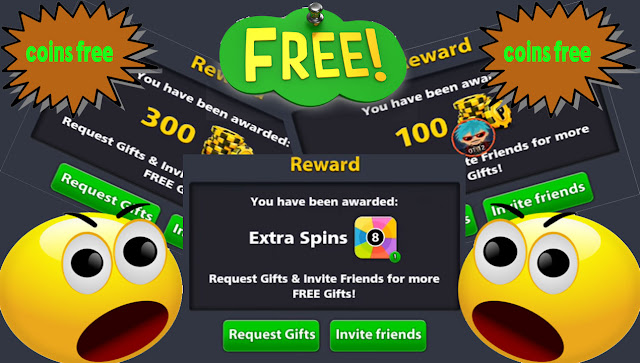 free 8 ball pool coins and 8 ball pool Spins