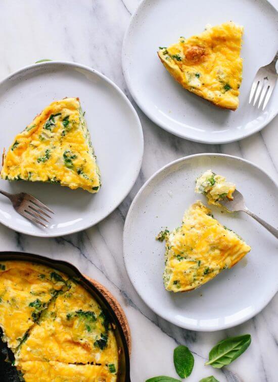 Shabbat Breakfast - Broccoli Cheddar Frittata  Land of Honey