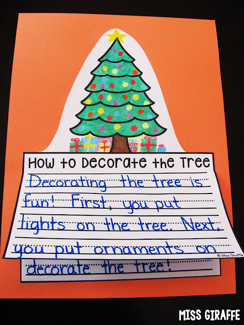 How to decorate the tree writing craft and other great December writing prompts and activities