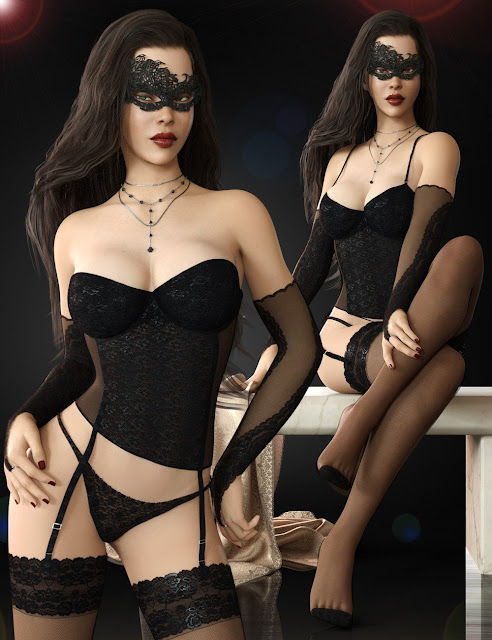Basic Corset Lingerie Set for Genesis 8 Females