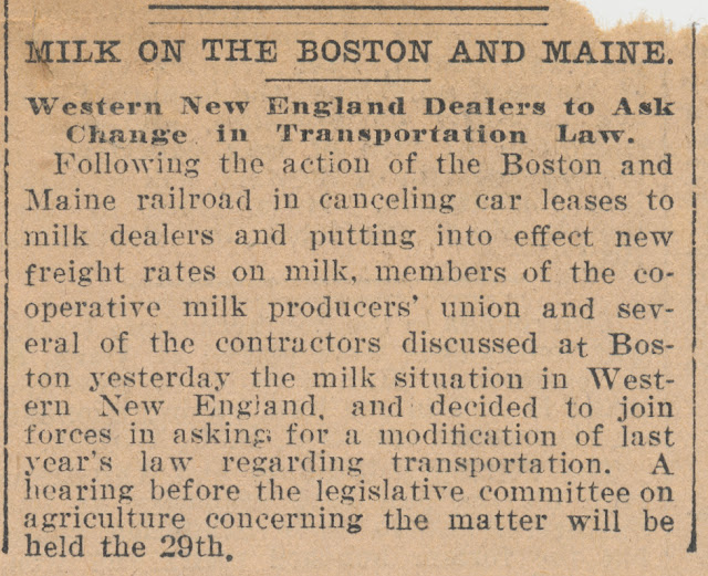 Milk on the Boston & Maine...