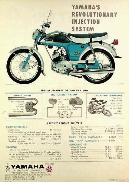 1966 Yamaha YL1 Twinjet | Parallel Twin Universe