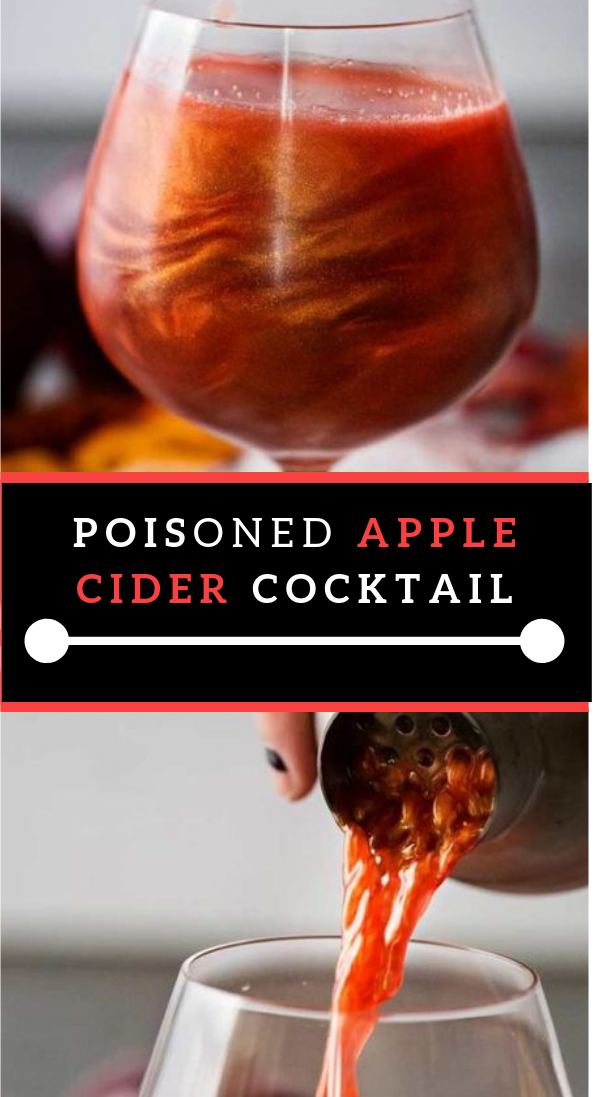 Harmed APPLE CIDER COCKTAIL #apple #halloweendrink