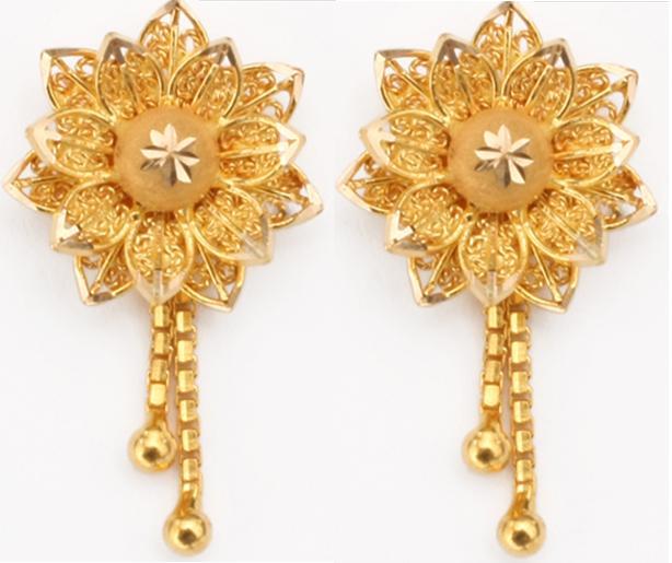 Ladies Fashion Fun: Ladies New Gold Bridal Earrings