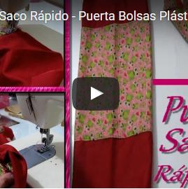 ►DIY - Puxa Saco Rápido - Puerta Bolsas Plásticas