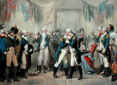 George Washington and Officers