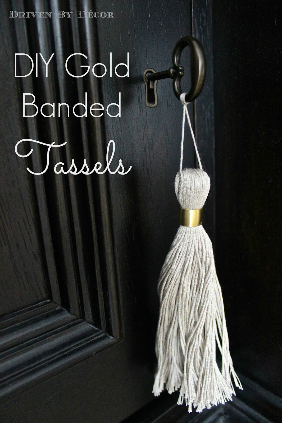 a furniture tassel how to diy gold banded tassels driven by decor. Black Bedroom Furniture Sets. Home Design Ideas