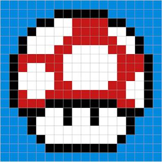Seta Super Mario Pixel Hama Beads