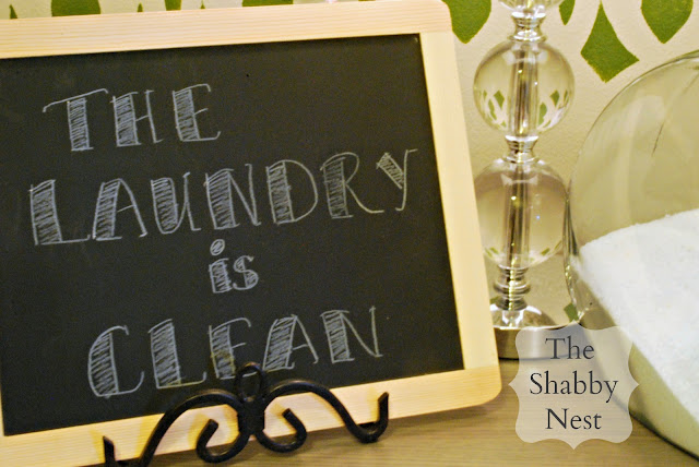 The Shabby Nest: No-Smudge Chalkboard Art