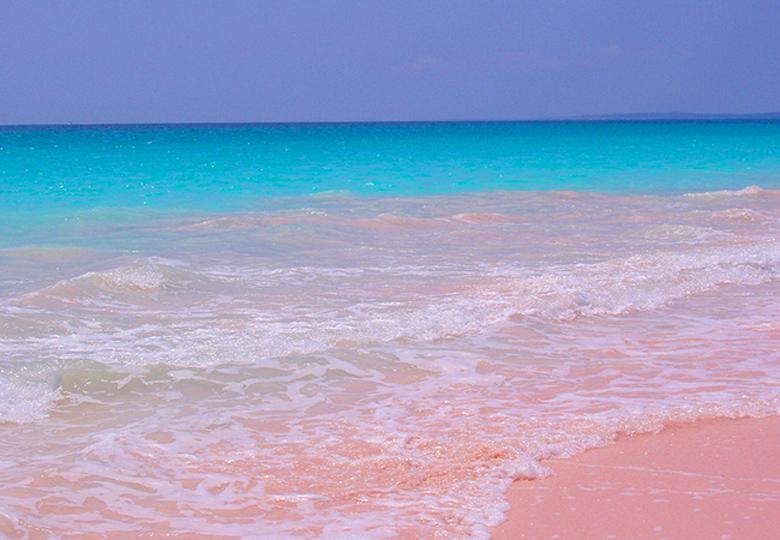 BE A SECRET PINK SANDS BEACH