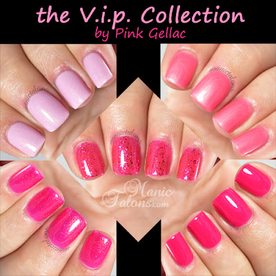 Pink Gellac The V.i.p. Collection Swatches and Review