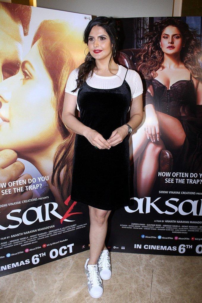 Zareen Khan, Gautam Rode and Sreesanth at Aksar 2 Trailer Launch