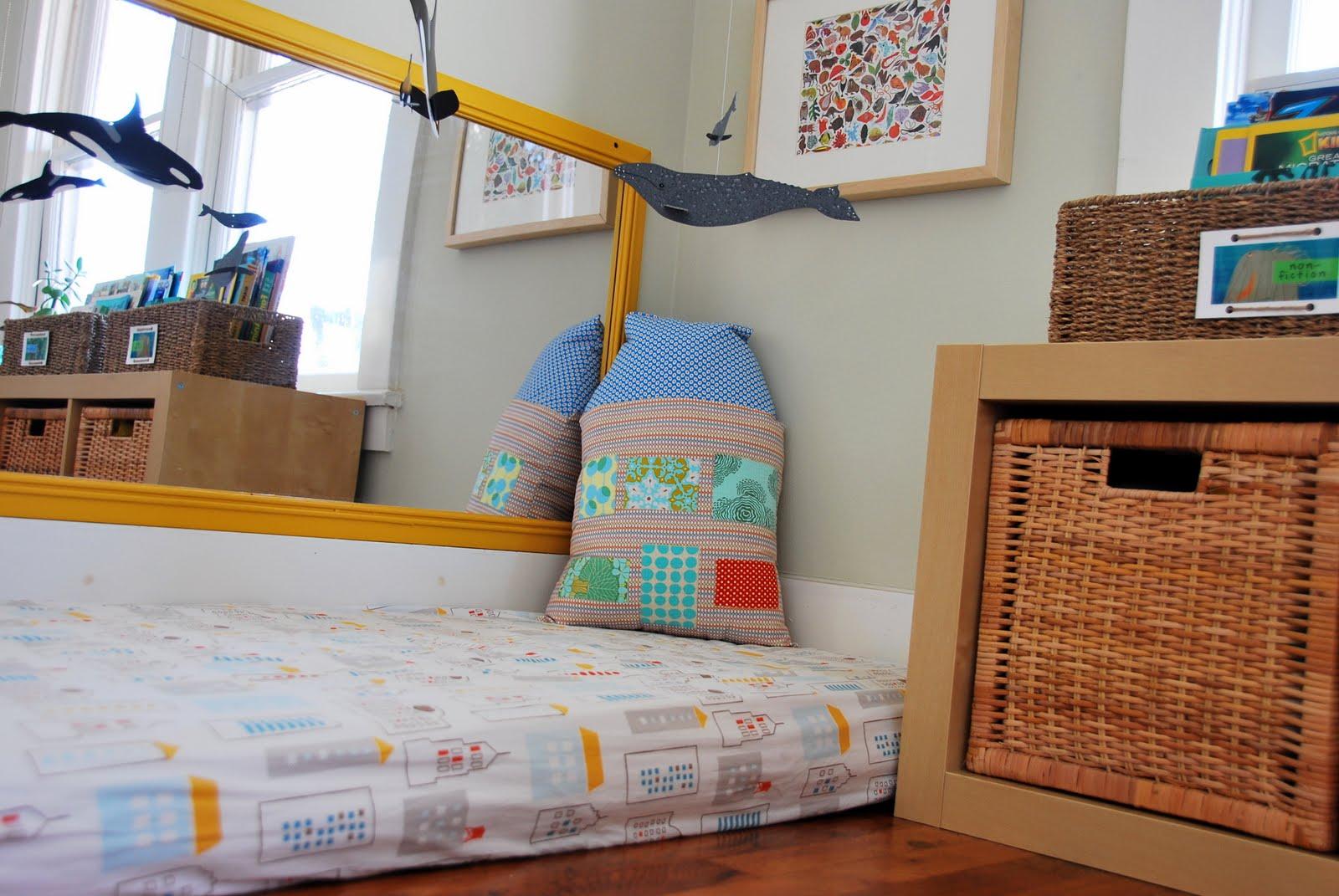 cosy montessori style floor beds. Black Bedroom Furniture Sets. Home Design Ideas