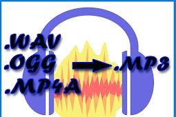 Cara Convert File Audio (WAV, OGG, MP4A) ke MP3 di Audacity