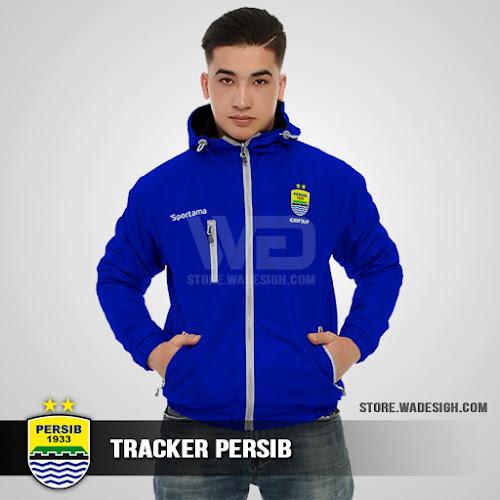Jaket Tracker Waterproof Persib Bandung
