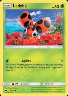 Ledyba Burning Shadows Pokemon Card