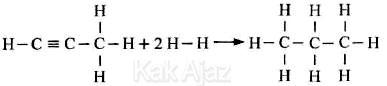 Reaksi pemutusan propuna menjadi propana, hidrogenasi propuna, soal Kimia UN 2017