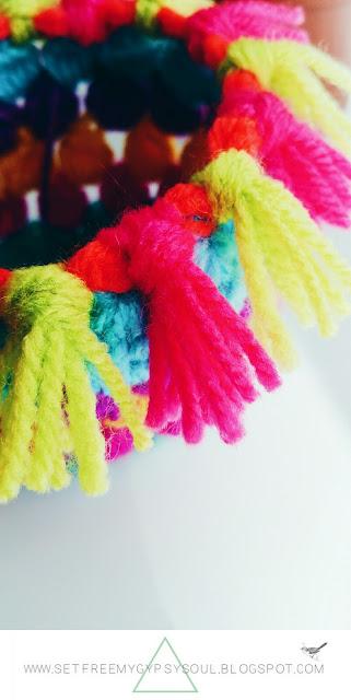 free crochet pattern plant pot sock cozy cover bohemian home tutorial tassel