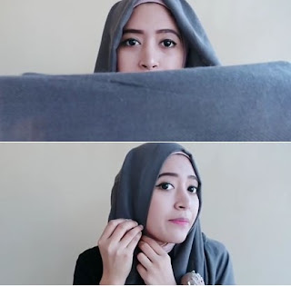 Tutorial Hijab Pashmina Casual Minimalis Program Semiformal