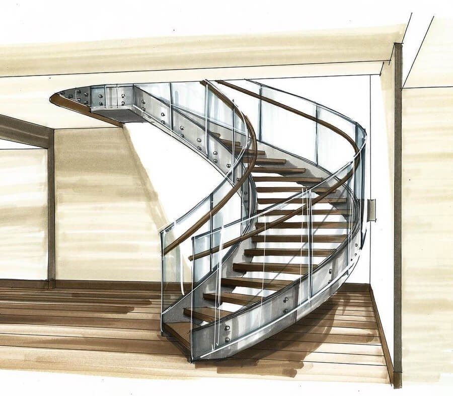 03-Sweeping-Staircase-A-Brindis-Interior-Design-Drawings-and-a-Video-www-designstack-co