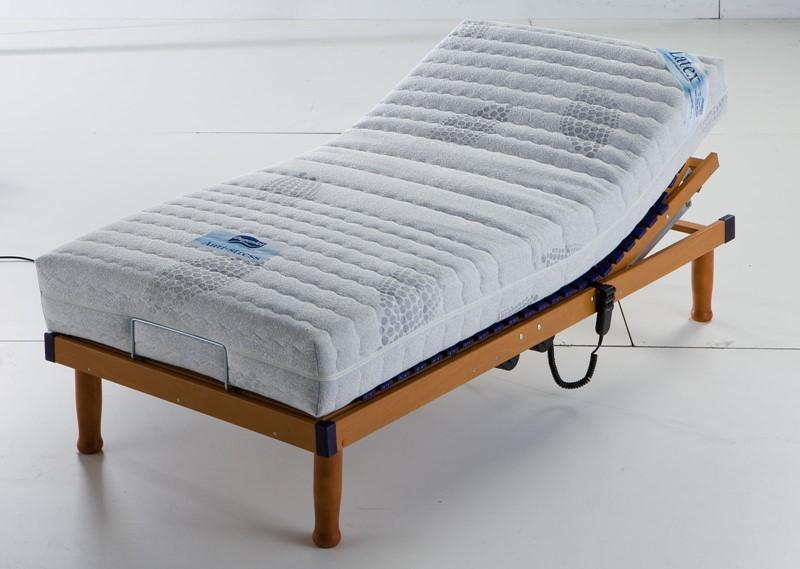 colchón articulado de látex y somier eléctrico