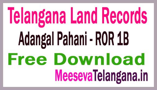 Telangana (TS) Adangal Pahani Free Download